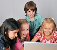 Children enjoy learning online with LCF Clubs