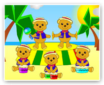 Play percussion with Jazz Bear