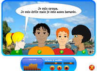 Dialogues for learning French online
