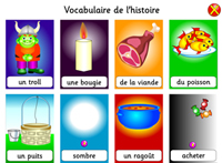 Vocabulary for learning French online